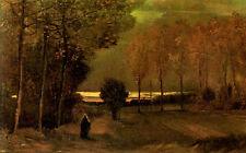 Incorniciato stampa -- VINCENT VAN GOGH replica 1884 Autunno PAESAGGIO (PICTURE POSTER)