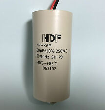 60uF 250VAC Capacitor suits light floro fluorescent with leads 60mfd MPP