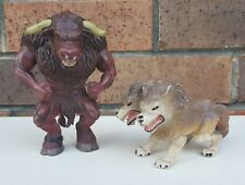 ELC Minotaur & Two Headed Wolf - Action Figures - Fantasy Mythic 1990's VINTAGE