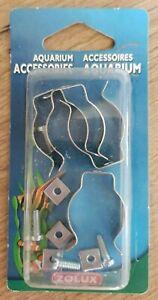 4 Clips pour tubes aquarium Zolux 334095 neufs