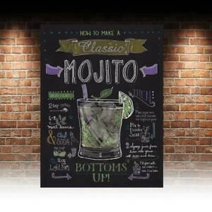 Mojito Cocktail SIGN METAl PLAQUE retro Bar Man cave Pub home bar beer garden
