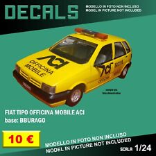 DECALS repro Fiat Tipo Assistenza officina ACI yellow Bburago Burago 1/24 1 24