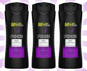 3 AXE Excite Crisp Coconut & Black Pepper Scent Body Wash Clean + Fired Up 24 OZ