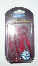 LEURRE SOUPLE WSBtackle Curl Tail Eel Monster Crab Flavour rouge par 5