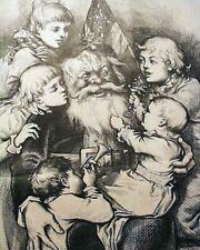 Great Santa Claus Christmas Thomas Nast Print Harper's Weekly 1879 Old Newspaper