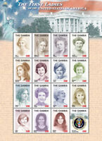 GAMBIA FIRST LADIES OF THE US - HOOVER-TRUMP SHEETLET OF 16 MNH