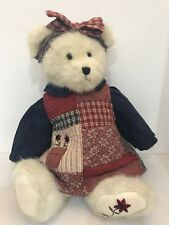 """Boyds Bears Amy Quiltberry Best Dressed Series 16"""" Tall Plush Stuffed Animal"""