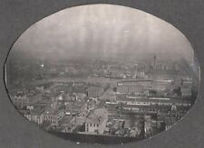 VINTAGE 1901 DETROIT MICHIGAN WINDSOR ONTARIO CITY VIEW DETROIT RIVER OLD PHOTO