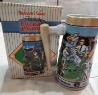 "Budweiser Baseball ""America's Favorite Pastime"" Sports Series 1990 Mug Stein NIB"
