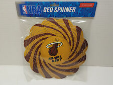 "New NBA Geo Spinner Miami Heat 10"" Wind Spinner Yard Garden Hanging"