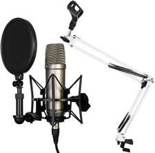 Rode NT1-A Set Kondensator Mikrofon + KEEPDRUM NB35WH Weiss Gelenkarm Stativ