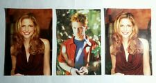 LOT 3pcs BUFFY THE VAMPIRE SLAYER SARAH MICHELLE GELLAR GREEN TV POSTCARD AS-IS