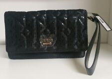 Guess Malena Mini Crossbody Handbag Wristlet in Black -NWT