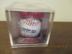 Cleveland Indians April 11, 1997 Opening Day Souvenir Baseball Near Mint In Cube