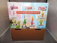 Legend of Zelda Collectible Figures Store Display Box EUC Link Gacha Tomy
