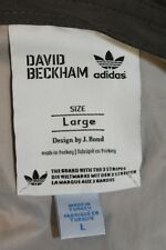Adidas David Beckham Collection Button Down Shirt Long Sleeve Size L Very Rare