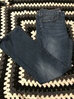 Eddie Bauer Blue Jeans Women Size 12, Slightly Curvy Bootcut Stretch Medium Wash