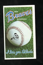 Atlanta Braves--1979 Pocket Schedule--WSB/General Finance