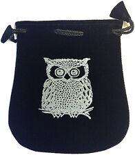 OWL velvet pouch / bag