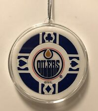 Edmonton Oilers Poker Chip Christmas Tree Ornament Holiday NHL Hockey