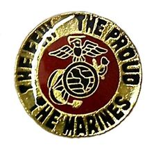 Usmc Lapel Cap Pin Tac Marines Marine Corps The Few Proud World Anchor Wings New