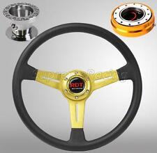 Gold Steering Wheel Hub Adapter Quick Release Combo For Honda Civic 1996-2000 EK