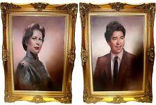Vintage Pair of Don Bergman Oil Portraits
