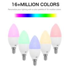 E14 Smart WiFiCandleLight Bulb RGBW LED Works with Alexa Google Assistant JF#E