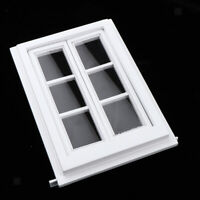 1:12 Miniature Dollhouse Mini Wooden DIY Window Doll House Decoration