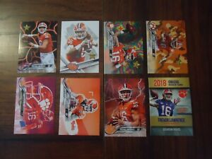 Trevor Lawrence Lot of 8 College Rookie Cards # 16 Clemson Tigers National Champ