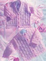 (763) Girls Cardigans Knitting Pattern, Round or V-neck, 16-26''
