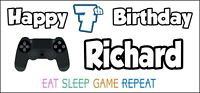 PS4 Controller Birthday Banner x 2 Party Decorations Boys Girls NAME & AGE