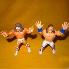 VINTAGE 90 S HASBRO WWF WRESTLING ULTIMATE WARRIOR Smash + British Bulldog LOTTO