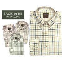 Jack Pyke Countryman Shirt Hunting Shooting Green Burgundy Brown or Navy Check