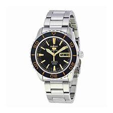 Seiko Men's Seiko 5 Automatic Black Dial Stainless Steel Watch SNZH57