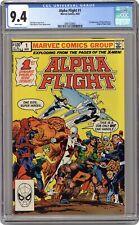 Alpha Flight #1 CGC 9.4 1983 2081529001 1st app. Puck