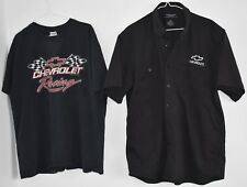 Chevrolet T-SHIRT and BUTTON DOWN SHIRT large and xl CHEVROLET RACING