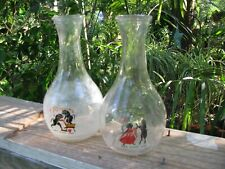 Greek Motif Glass Vases (Set Of Two)