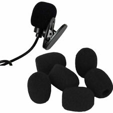 10Pcs Small Black Headset Microphone Windscreen Sponge Foam Mic Cover Pop Filter