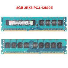 For Hynix 8GB 2Rx8 PC3-12800E DDR3-1600Mhz 240Pin ECC UDIMM Server Memory RAM