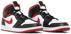 Men Size 8-11 Nike Air Jordan 1 Mid Metallic Gym Red/Black/White 554724-122