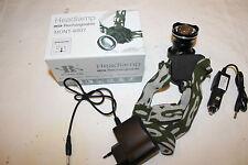 3 x lámpara de cabeza con multifunción 1600 lumen - 2500x zoom-impermeable
