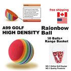 A99 Golf Ball Training Practise Aid Rainbow Eva Foam Ball 50pcs with Bucket