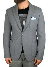 BOSS BLACK Jersey-Sakko | Navim in 50/M ( Slim Fit ) grau mit Struktur