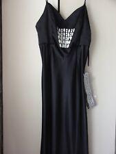 Elements/Amanda Wakeley Long Strappy Black  Dress  UK 18