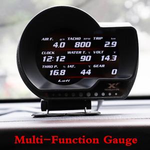 Vehicle OBD2 Multifunction Digital Turbo Boost Oil Pressure Temperature Gauge