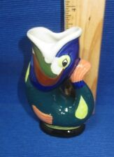 New Mini Wade Ceramics Gluggle Jug, Highly Decorated, Multi-color, 3.5 in, Fish