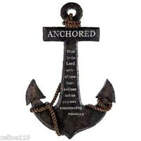 Anchored in the Lord Proverbs 3:5 Resin Anchor Wall Decor. Nautical decor