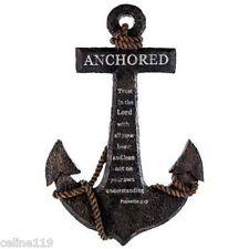 Anchored in the Lord Proverbs 3:5 Resin Anchor Wall Decor. Nautical decor