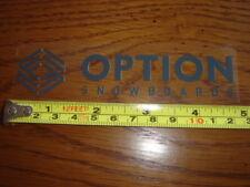 OPTION Snowboards STICKER Decal